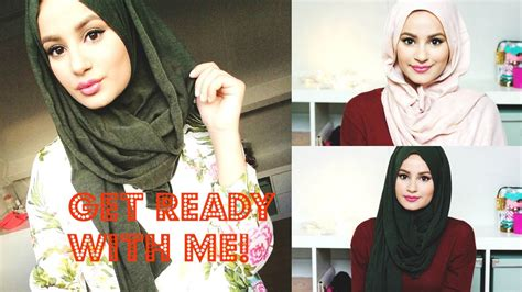 tutorial hijab simple ootd get ready with me make up tutorial hijab tutorial ootd