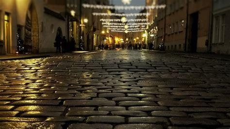 night street    town  tallinn hd wallpaper