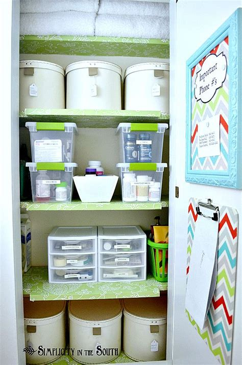 bathroom closet organization ideas hall closet organization for medicines and odds n ends