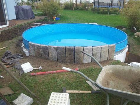 Pool Verkleidung Bauen by Poolumrandung Holz Rund Selber Bauen Bvrao
