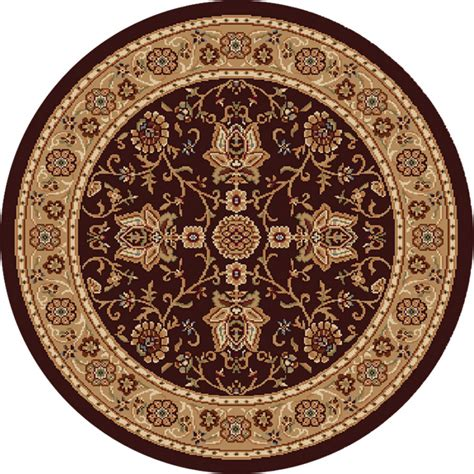Shop Home Dynamix Rome Round Brown Woven Area Rug Common 5 Foot Area Rugs