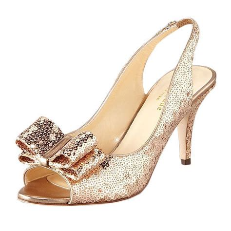 Gold Wedding Shoes by Sparkling Sophisticated Kitten Heels For Your Walk