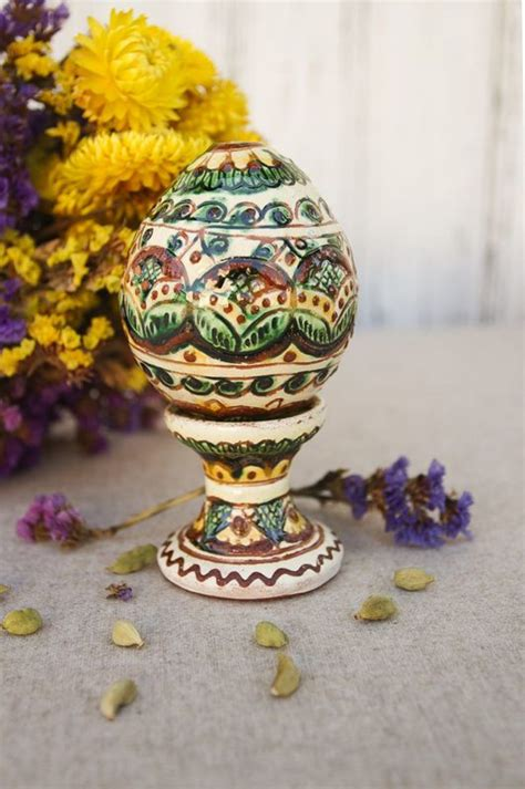 care ceramic egg madeheart gt ceramic easter egg with a stand