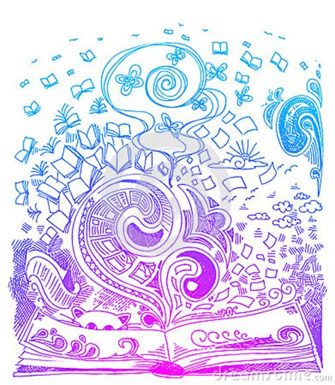 free doodle book book sketch doodles vector royalty free stock photography