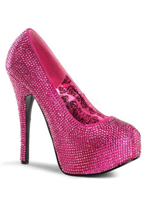 pink platform high heels pink satin rhinestone platform heels heel shoes