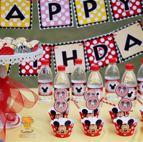 luxury birthday decoration set mickey mouse theme supplies baby shower birthday