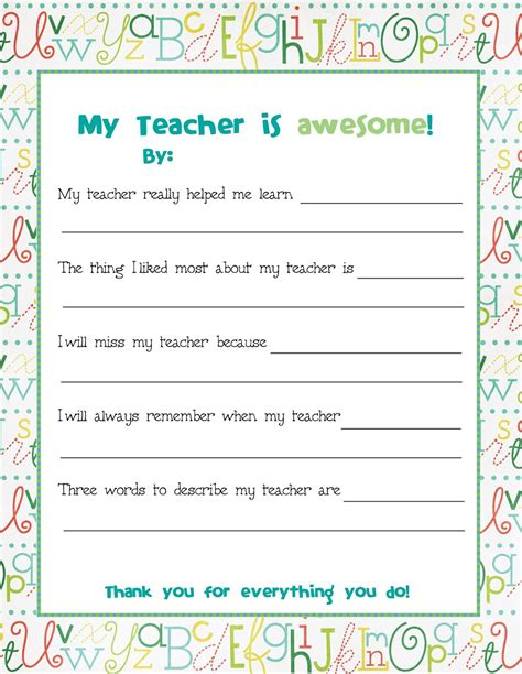 free printable study note cards end of year teacher card send this to all the kids to