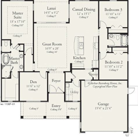 arthur rutenberg homes floor plans jasmine 1130 traditional floor plan ta by