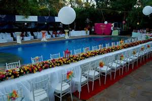 swimming pool dekoration pool decorations for weddings decorating of
