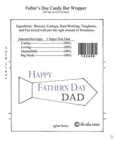 Father S Day Hershey Bar Wrappers Hershey Bar Wrapper Template