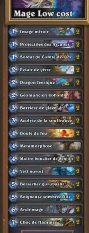 deck low cost hearthstone hearthstone deck mage low cost 240 poussi 232 res guide