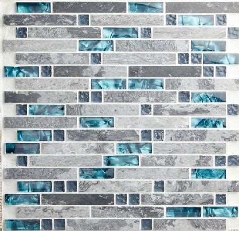 blue tile kitchen backsplash black silver glass mosaic kitchen wall tiles backsplash