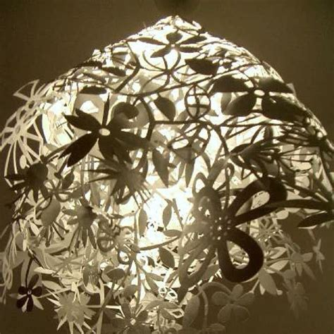 How To Make A Lshade Out Of Paper - flowers paper cutout l shade for the home