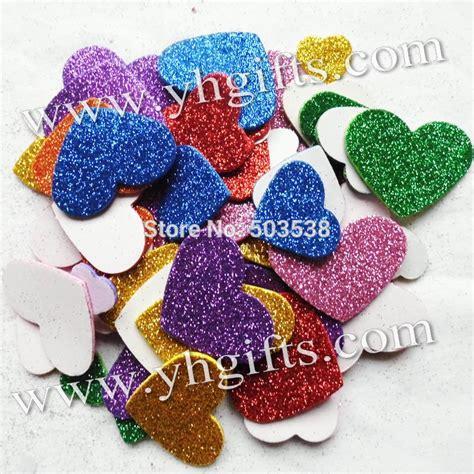Stiker Gliter 50pcs 1bag lot mixed size glitter foam stickers