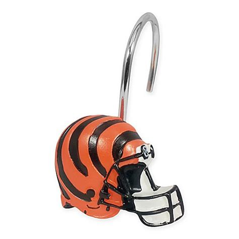 cincinnati bengals shower curtain nfl cincinnati bengals shower curtain rings by the
