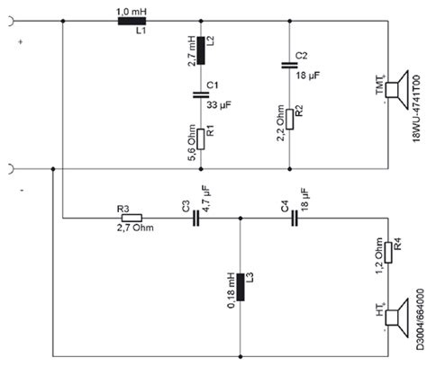 3 way speaker crossover wiring diagram 3 way speaker