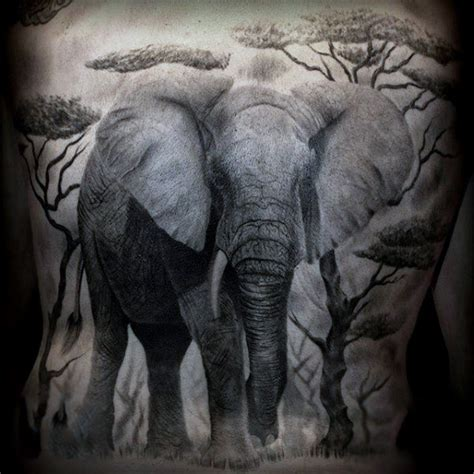 50 elephant tattoos on back 100 elephant designs for think big