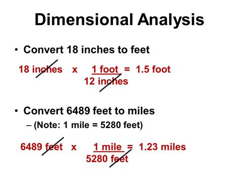 18 meters to feet metric conversions dimensional analysis and scientific