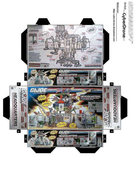 templates for toy boxes mini gijoe headquarters toybox by cyberdrone on deviantart
