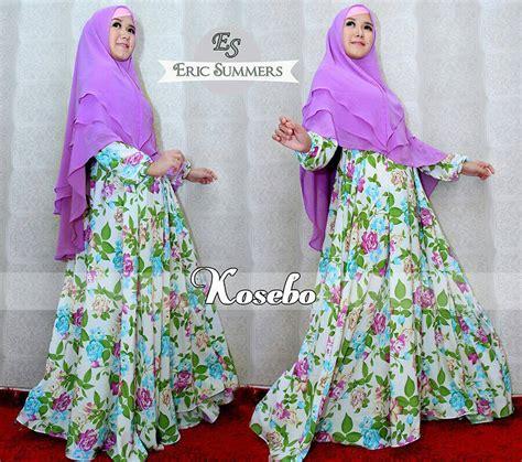 Dress Zayna Purple kosebo purple baju muslim gamis modern