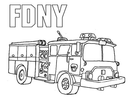 Coloring Pages Fire Engine Coloring Home Department Coloring Pages