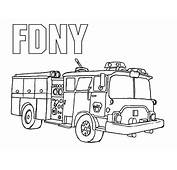 Coloring Pages Fire Engine  Home