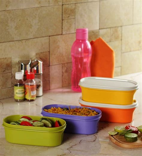4 Pcs Small Tupperware tupperware set of 4 pcs oval modular mate 500 ml by