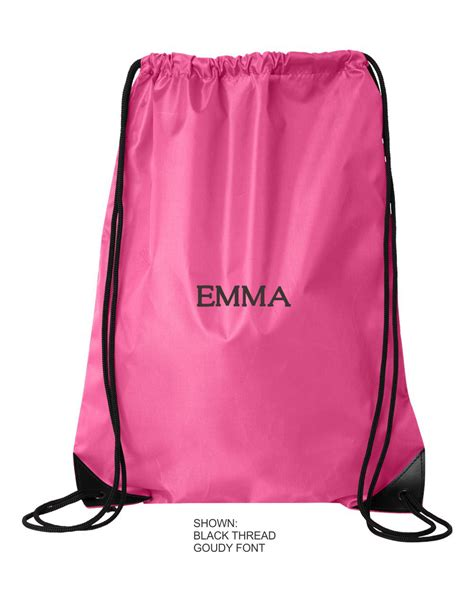 personalized drawstring bag embroidered cinch bag