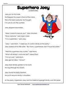 2nd grade reading comprehension worksheets pdf english