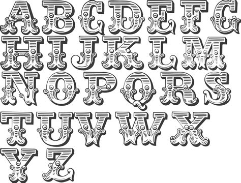 Letter Style Of Writing a handy collection of western circus type fonts fancy