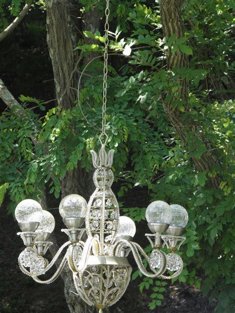solar outdoor chandelier solar powered chandelier in my garden ideas