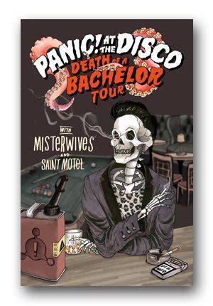 panic   disco poster  death   bachelor