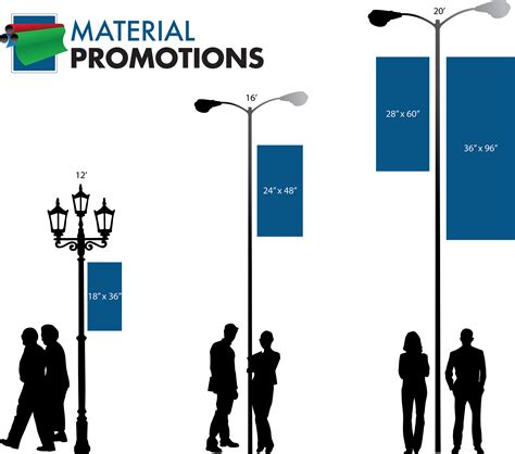 standard l post banner size street light pole banner sizes pictures to pin on
