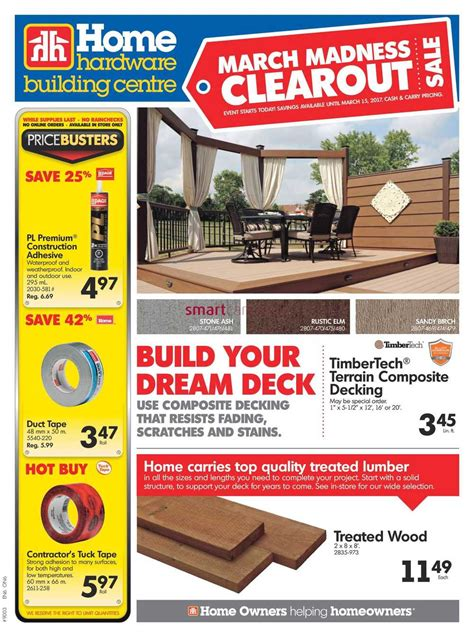 home hardware design book home hardware on flyer march 8 to 15
