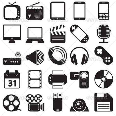 Media Icons Set   GraphicRiver