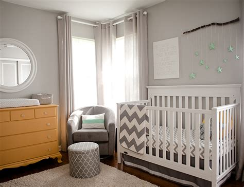 Grey And Yellow Nursery Inspiration Baby Blog Inspired Yellow And Grey Nursery Curtains