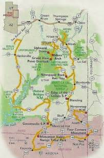 map of southeastern utah 2013 my itinerary followed