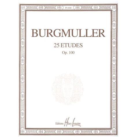 Buku Piano Burgmuller Op 100 lemoine burgmuller friedrich etudes op 100 25 piano