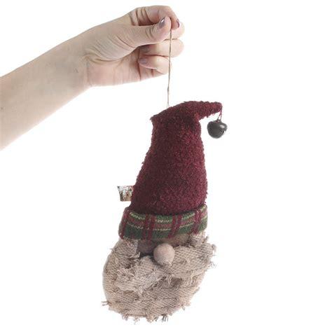 primitive plush santa ornament christmas ornaments