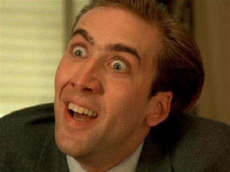 Nicolas Cage Face Meme - the studio exec nicolas cage is this the real life