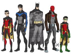 bat family young justice style by robert023 on deviantart