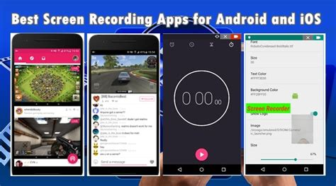 best recording app for android 15 best screen recording apps for android and ios 2018