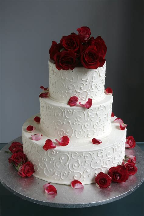 Wedding Cakes Roses by A Simple Cake Wedding Cake With Fresh Flowers From