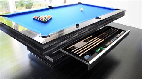 hermosa modern pool table contemporary youtube