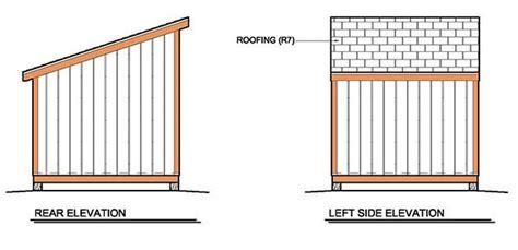 lean  shed plans blueprints  garden shed