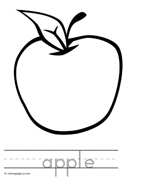 Apple Coloring Pages To Download And Print For Free Apple Pages Letter Template