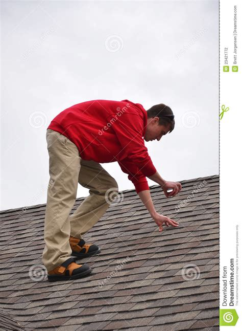 Home Design 3d Bay Window man on ladder on a roof stock photography image 23421772