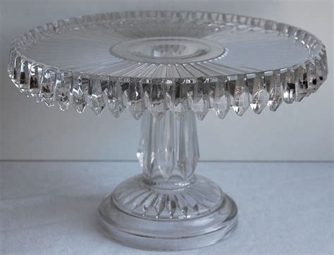 Chandelier Cake Stand Antique And Scarce Canadian Pressed Glass Chandelier Cake