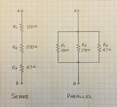 the drawing shows three resistors connected in parallel the drawing shows three resistors connected in parallel at junction a 28 images electrical