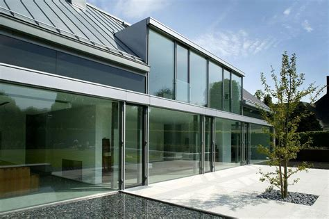 glass wall house glass walls terrace m 246 llmann residence in bielefeld germany